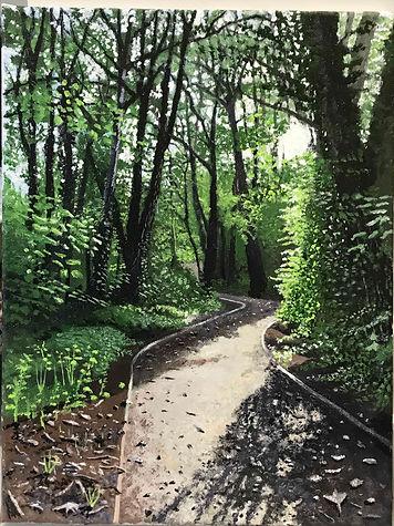 Path beside the River Leam, Leamington Spa Autumn 2019