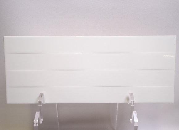 Daytona Waves Bianco Lucido 20 x 50 cm
