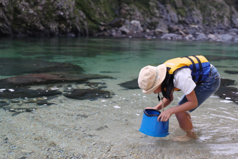 屋久島カヌー水遊び