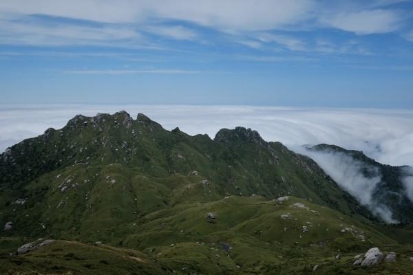 屋久島宮之浦岳からの展望雲海