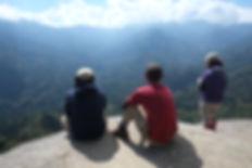 屋久島白谷雲水峡ツアーの太鼓岩からの景色