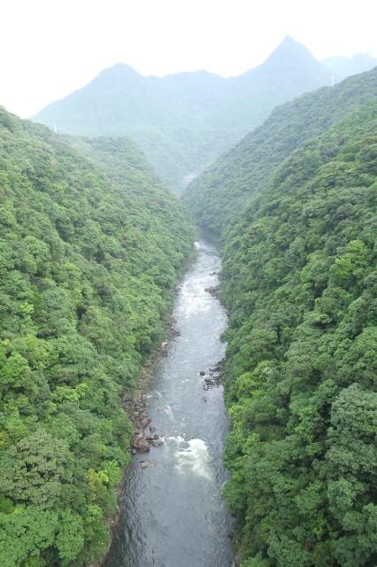 屋久島松峰大橋からの景色