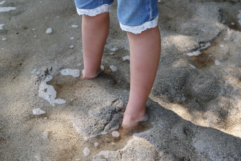 屋久島カヌー砂遊び