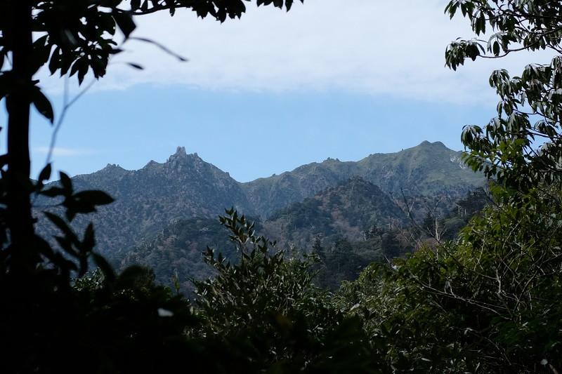 宮之浦岳を望む、縄文杉コース