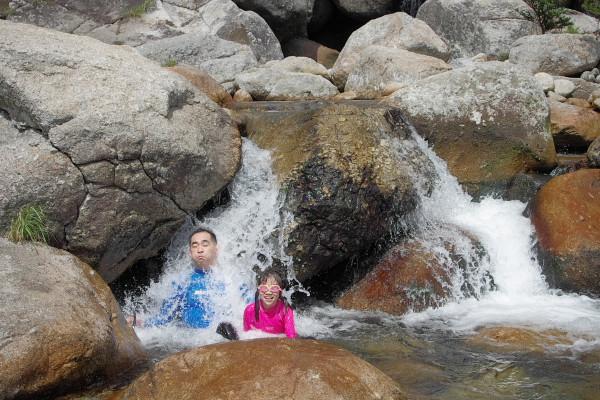 屋久島水遊び