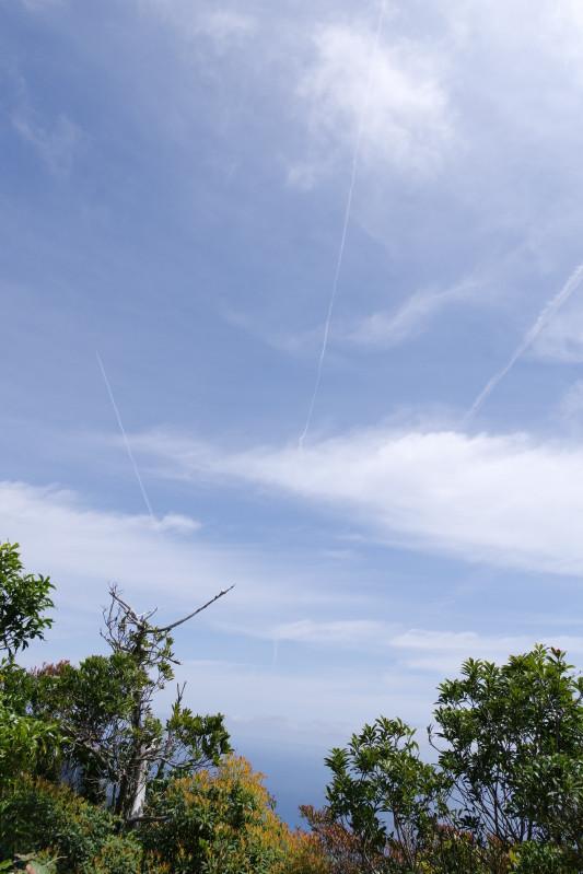 屋久島ひこうき雲