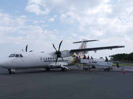 屋久島への飛行機