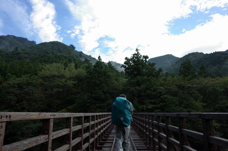 屋久島縄文杉鉄橋