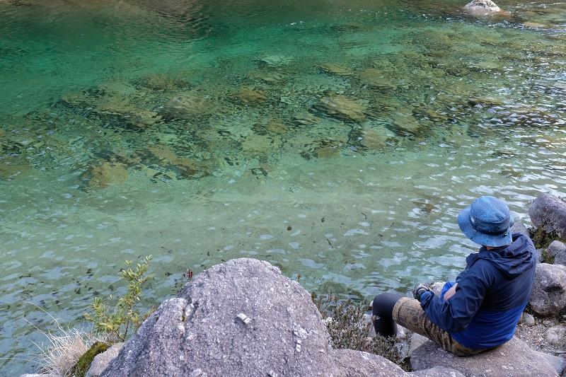 エメラルドグリーンの川、縄文杉コース