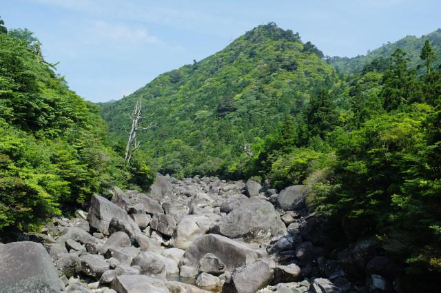 屋久島小杉谷橋からの眺め