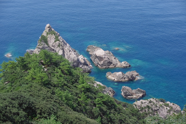 屋久島里の風景立神岩