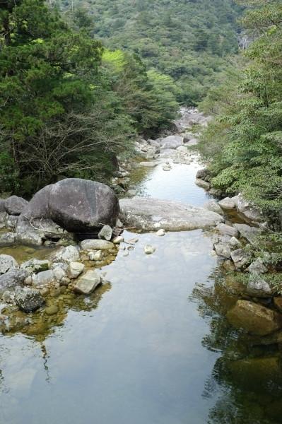 屋久島縄文杉コースの太忠橋