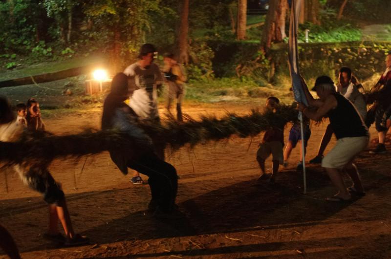 屋久島で十五夜の綱引き