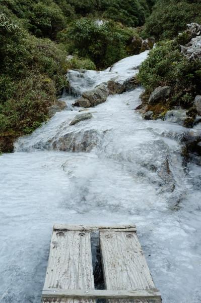 屋久島奥岳凍結