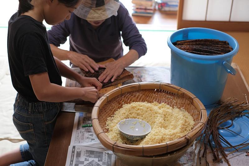 屋久島子供とあくまき作り