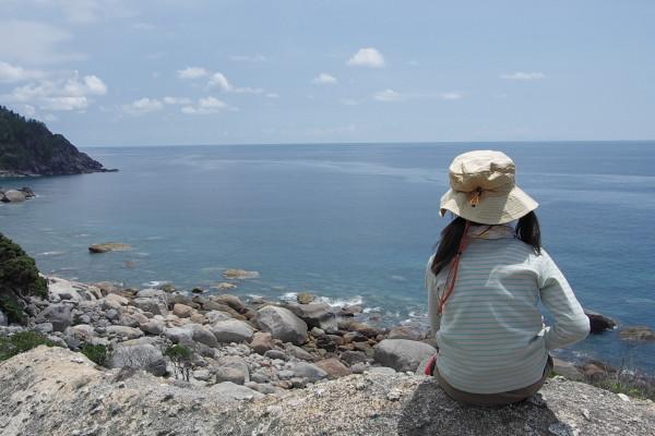 屋久島東シナ海を望む