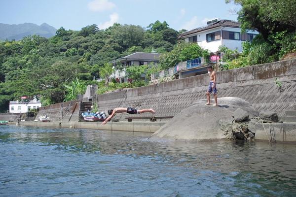 屋久島安房川で川遊び