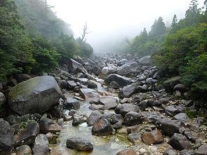 屋久島縄文杉ツアーの河原、もののけ姫モデル場所