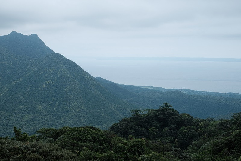 屋久島明星岳と種子島