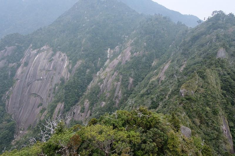 屋久島モッチョム岳の後方の山々