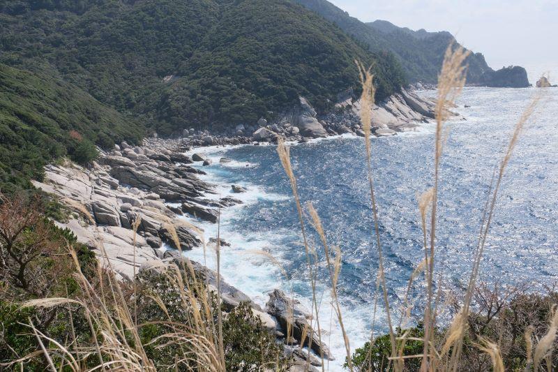 屋久島海岸線花崗岩