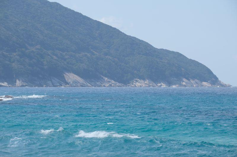 屋久島の海岸線、西部林道