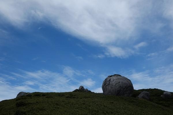屋久島山頂部の巨岩奇岩