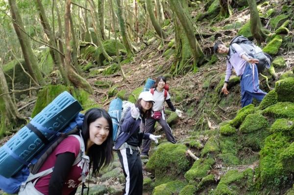 屋久島白谷雲水峡卒業旅行