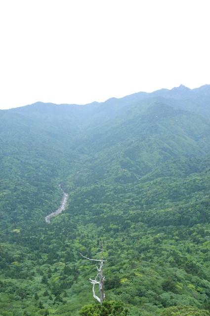 屋久島太鼓岩から宮之浦岳を望む