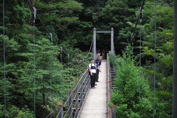 白谷雲水峡の吊橋も楽しい