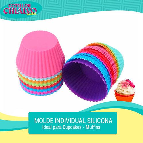 Molde silicona cupcake