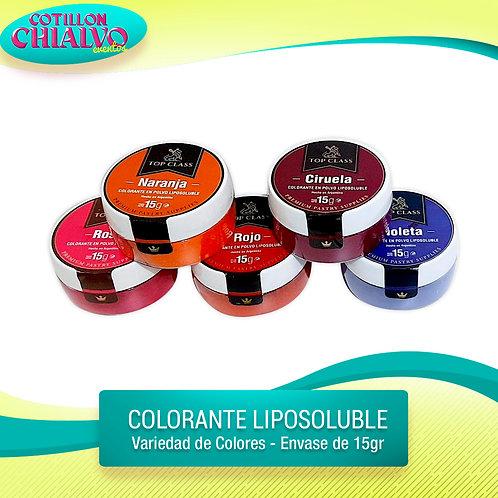 Colorante liposolubles 15grs