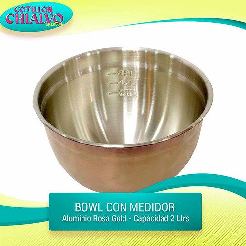 Bowl con medidor Rosa gold