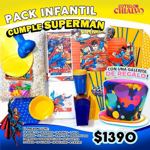 superman pack + galera de regalo