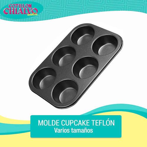 Molde Cupcake Teflon
