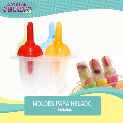Molde de helado 4u