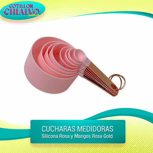 Cuchara medidora rosa gold