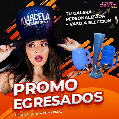 Pack Egresados Sombrero + Vaso