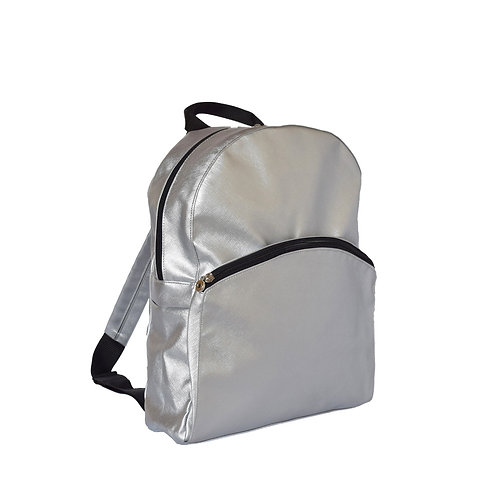 Silver Prima Medium Backpack