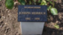New bronze memorial plaque for Joseph Me