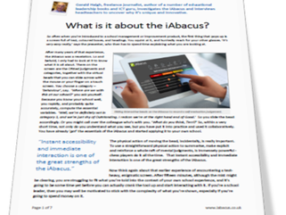 What is it about the iAbacus?