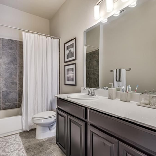 Hall Bath with Soft Staging