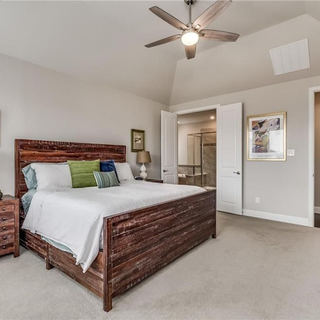 Master Bedroom with Soft Staging