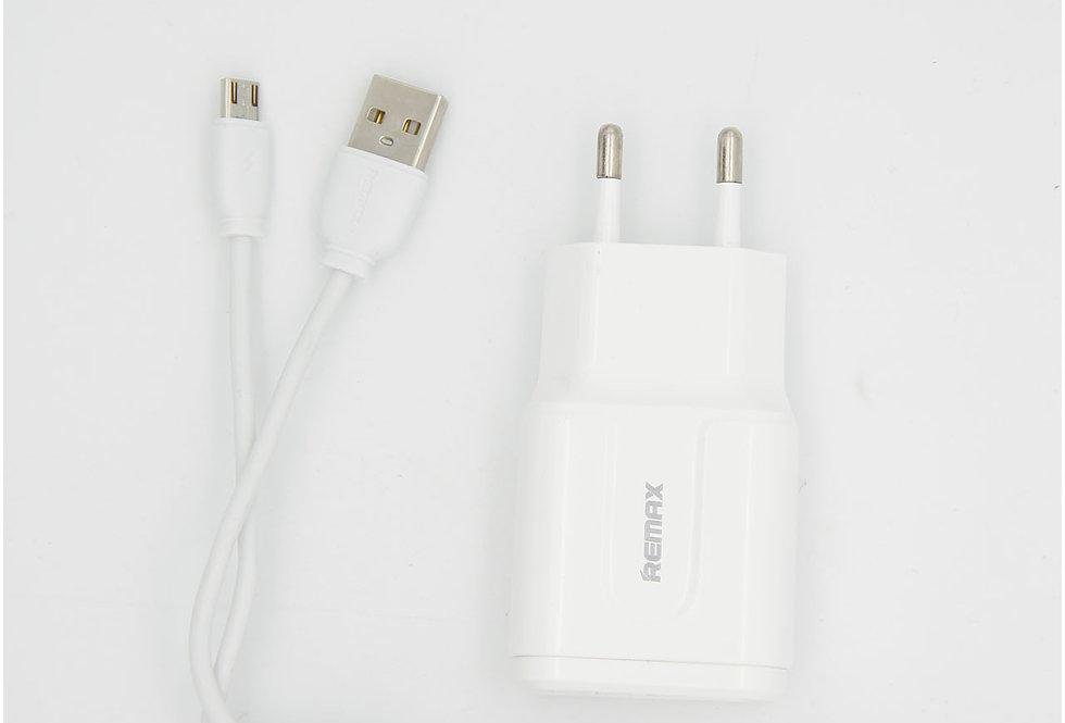 Комплект Сетевое зарядной устройство с проводом Micro Usb Remax