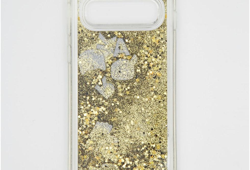 Силиконовый чехол c блестками на Samsung s10 Karl Lagerfeld