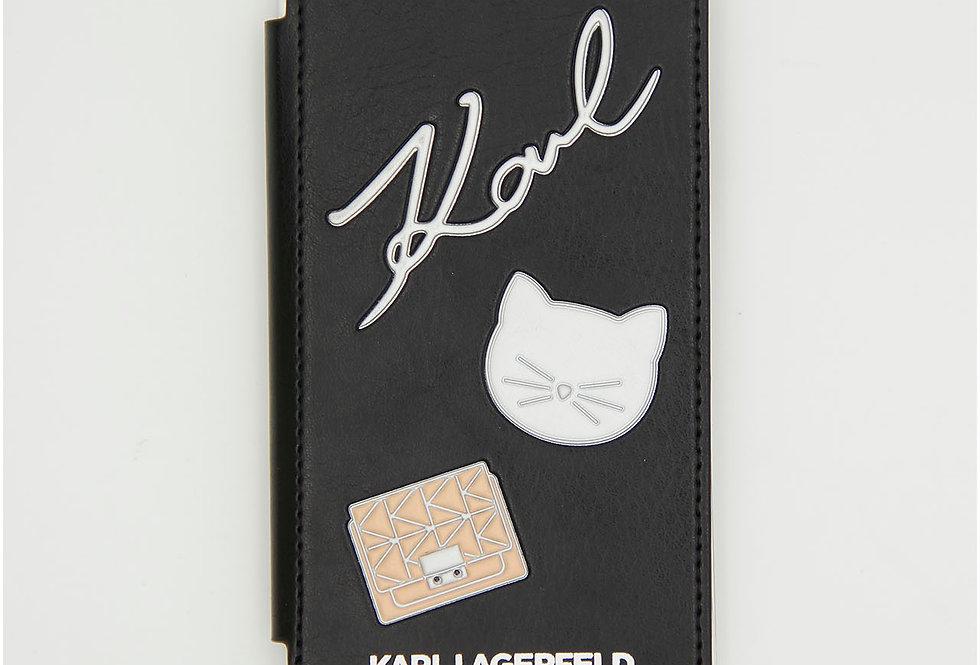 Кожаный чехол книжка на iPhone X/XS Karl Lagerfeld