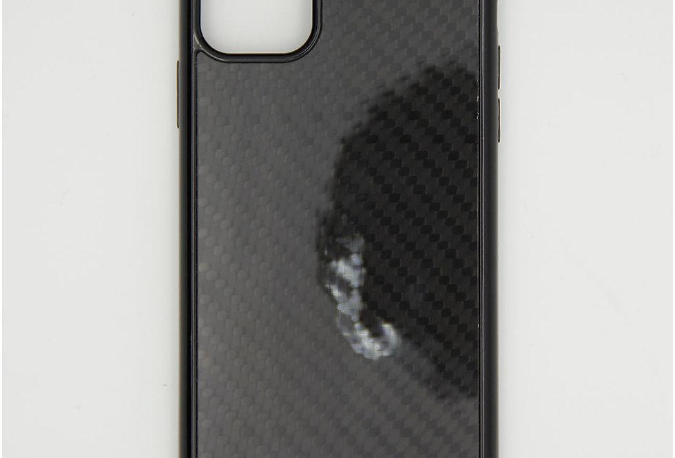 Стеклянный Карбоновый чехол на iPhone 11 Pro Max Mercedes