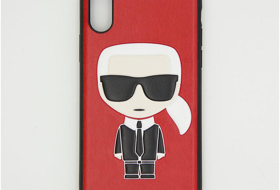 Кожаный чехол на iPhone X/XS Karl Lagerfeld