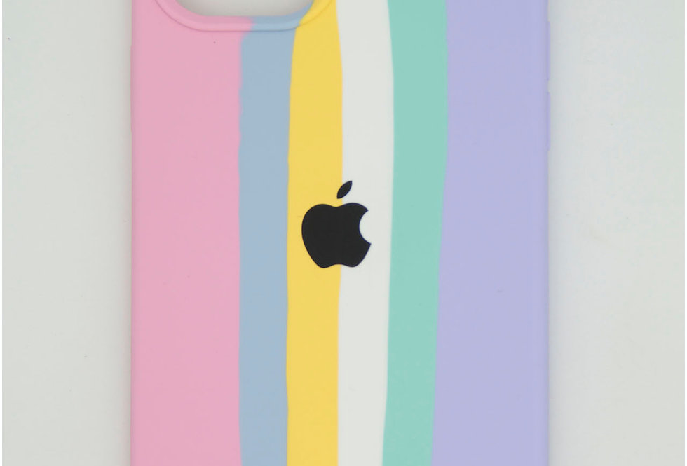 Чехол для iPhone 12 Pro Max Silicone Case радуга