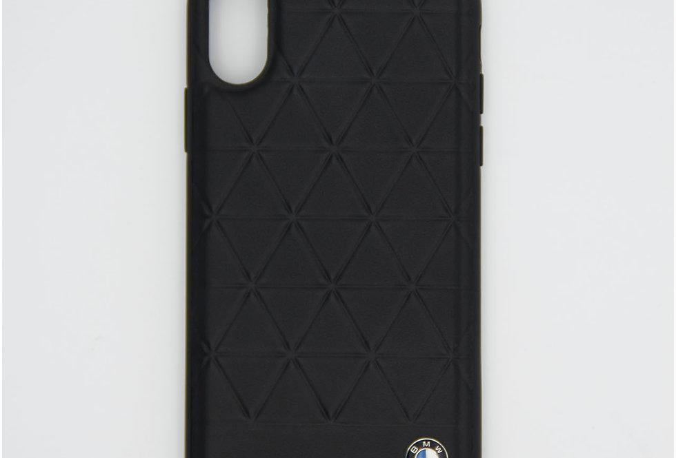 Кожаный чехол на iPhone X BMW